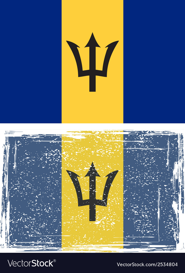 Barbados grunge flag vector | Price: 1 Credit (USD $1)