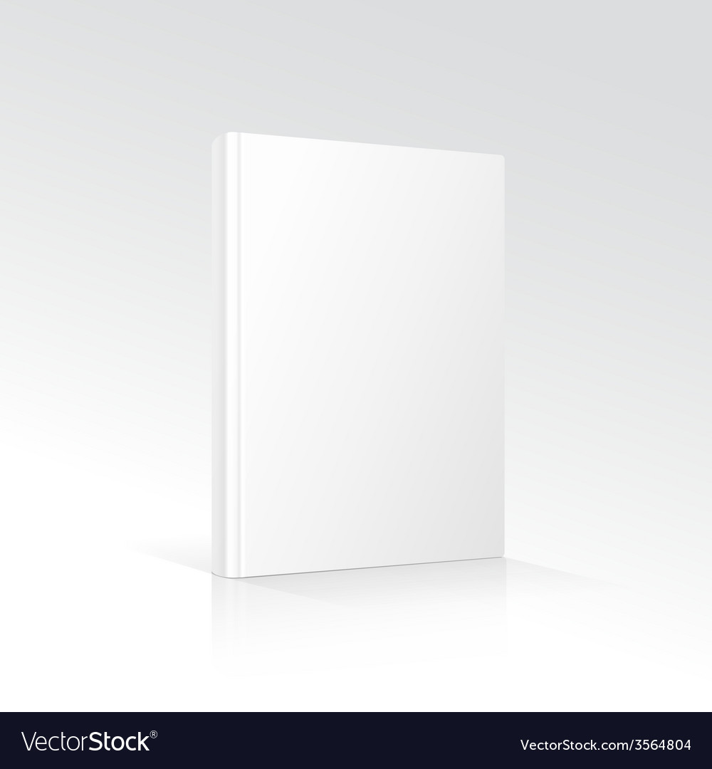 Blank vertical book cover template standing on vector | Price: 1 Credit (USD $1)