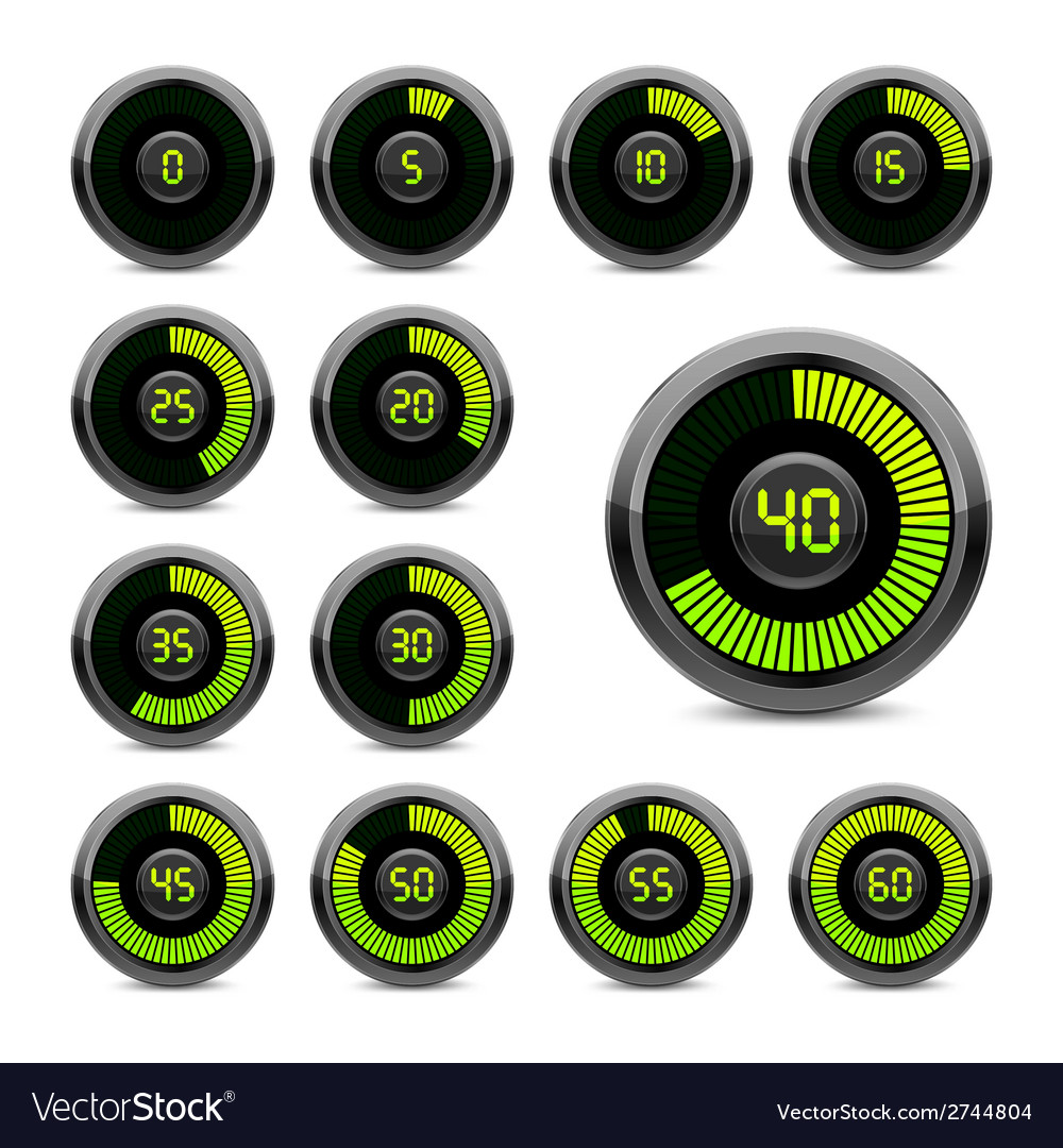 Electronic timer vector | Price: 1 Credit (USD $1)