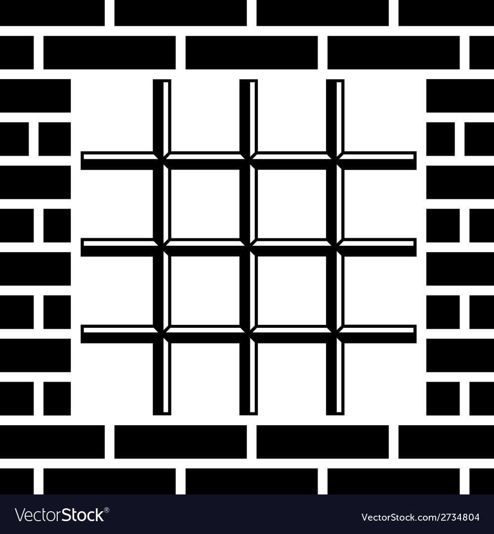 Grate prison window black symbol vector | Price: 1 Credit (USD $1)