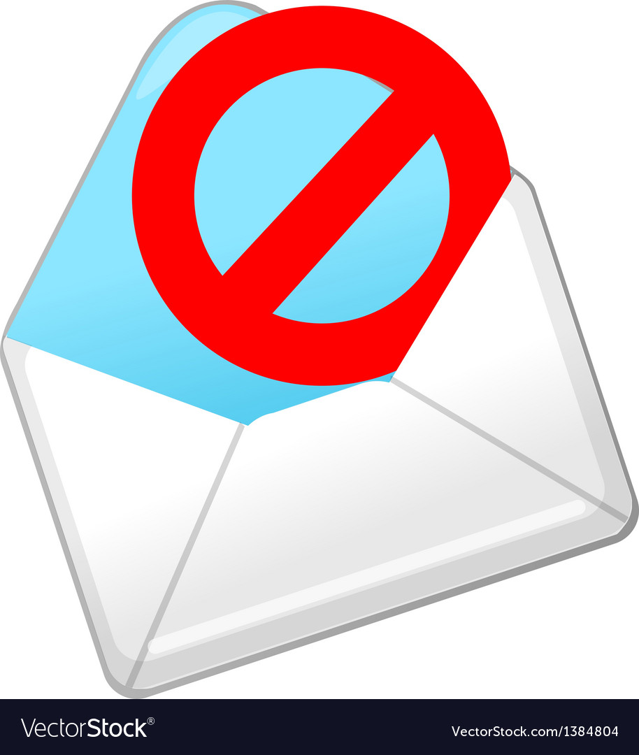 Icon spam mail vector | Price: 1 Credit (USD $1)