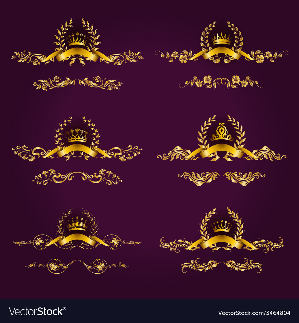 Luxury gold labels with laurel wreath vector   Price: 1 Credit (USD $1)