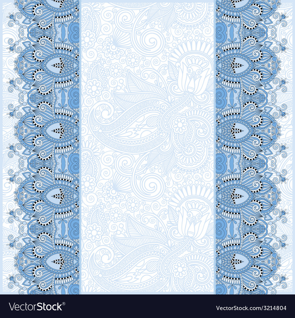 Ornamental background with blue colour flower vector | Price: 1 Credit (USD $1)