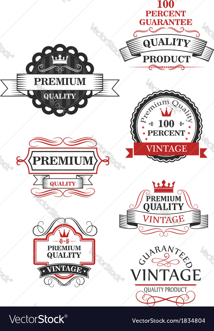 Premium quality label collection vector | Price: 1 Credit (USD $1)