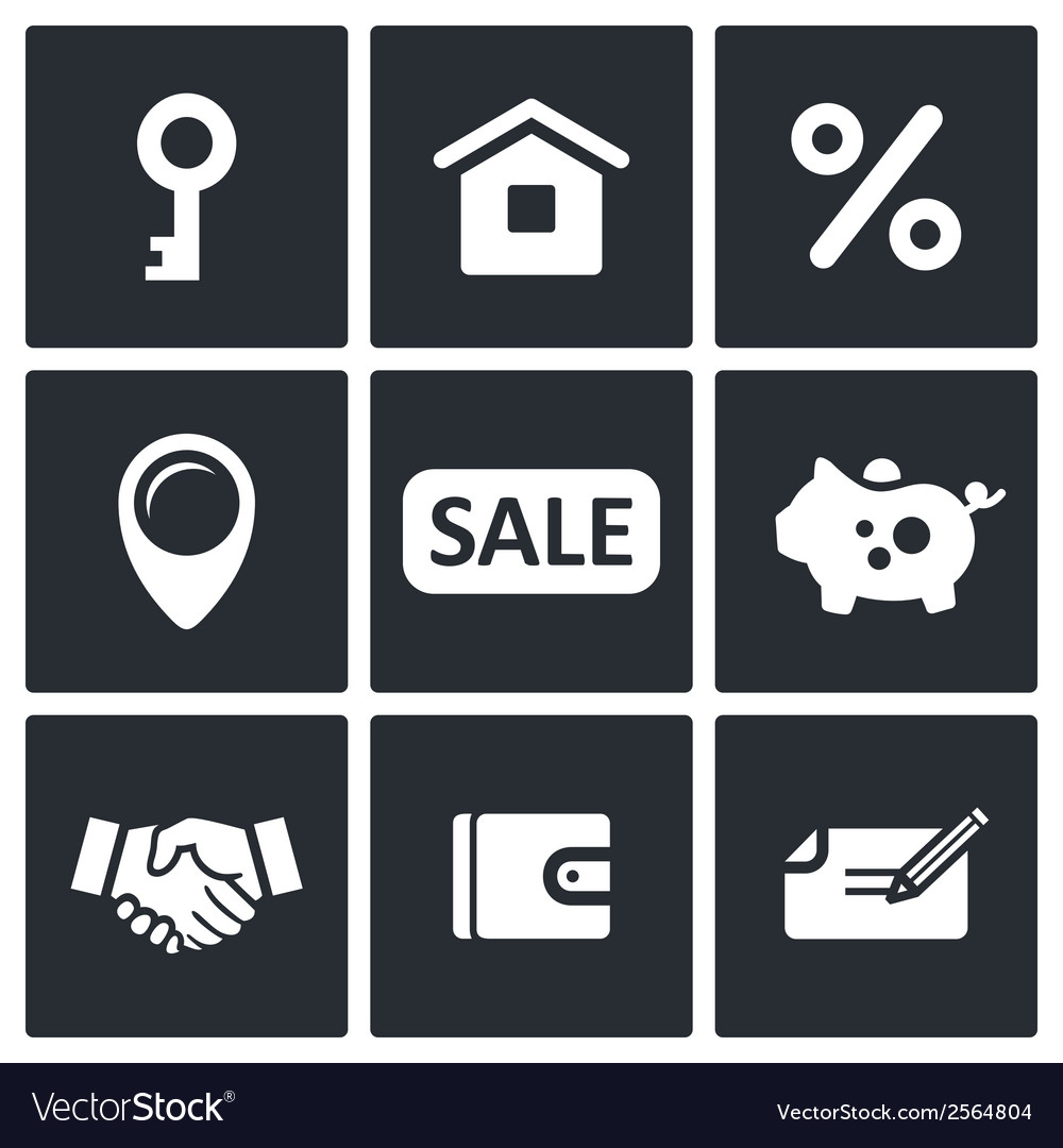 Real estate deal icon collection vector | Price: 1 Credit (USD $1)