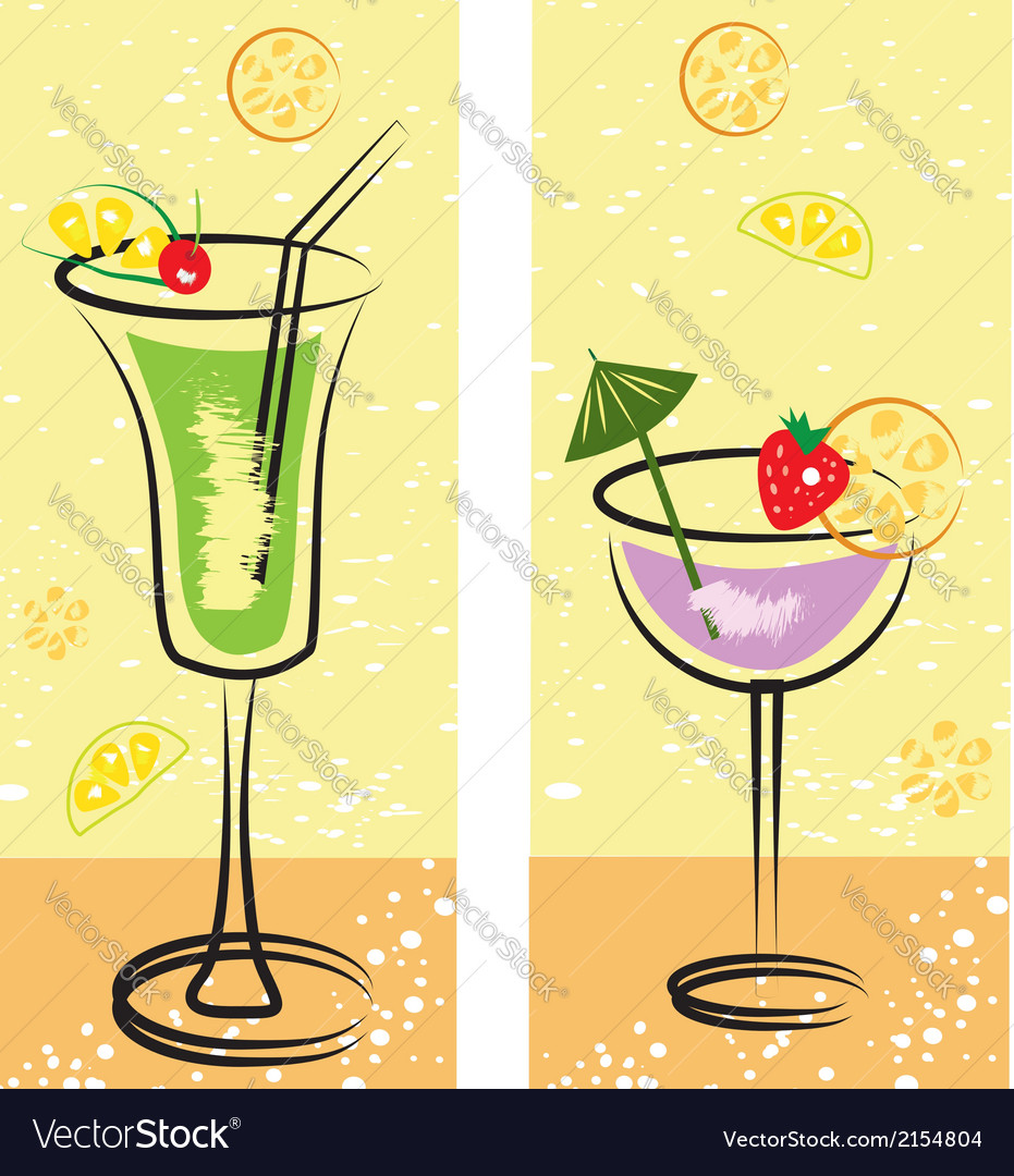 Set of cocktails vector | Price: 1 Credit (USD $1)