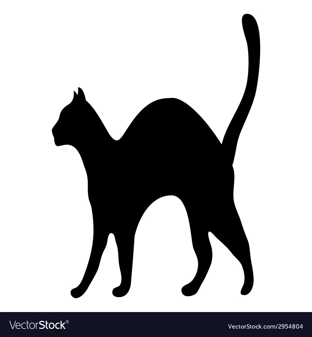 Silhouette afraid cat vector | Price: 1 Credit (USD $1)