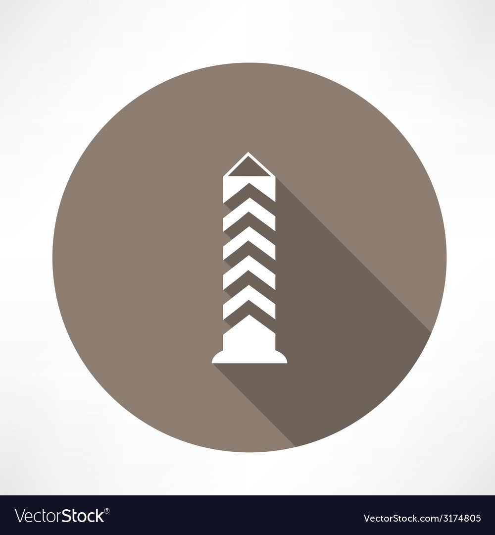 Boundary post pillar icon vector | Price: 1 Credit (USD $1)