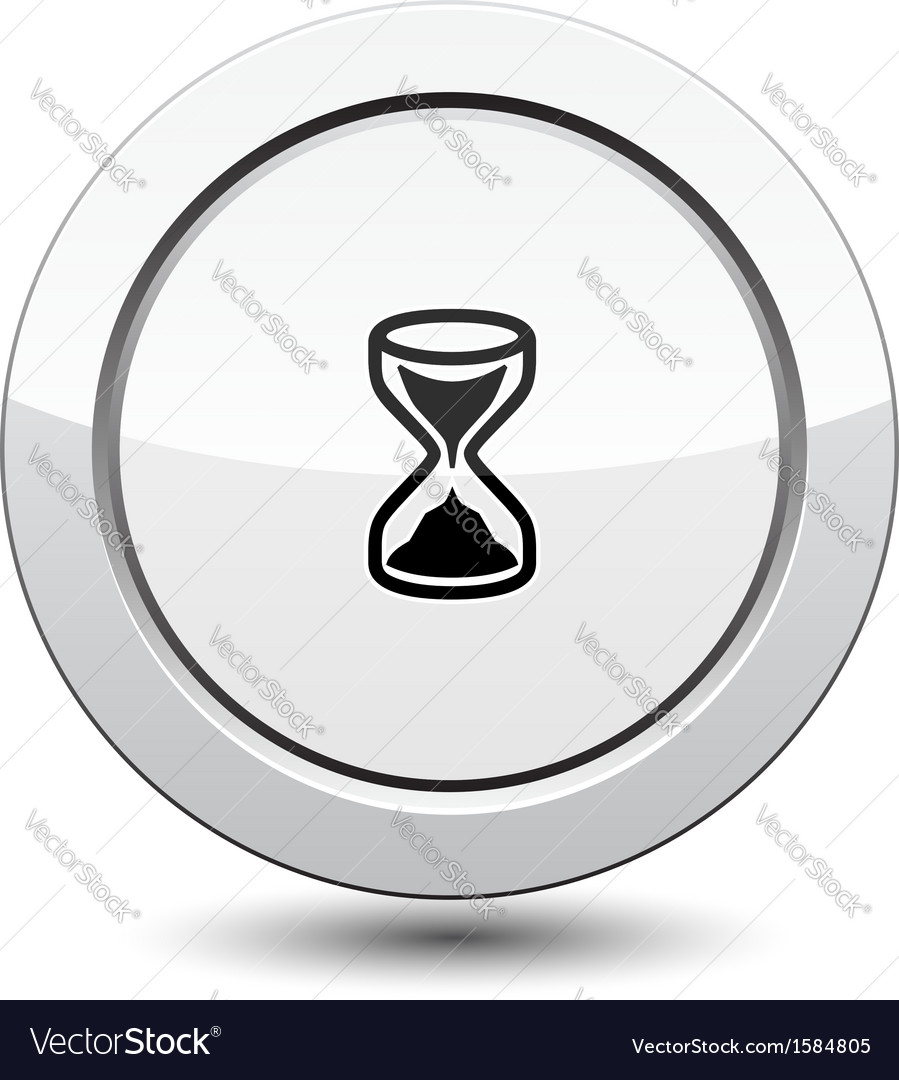Button with sand clock icon vector | Price: 1 Credit (USD $1)