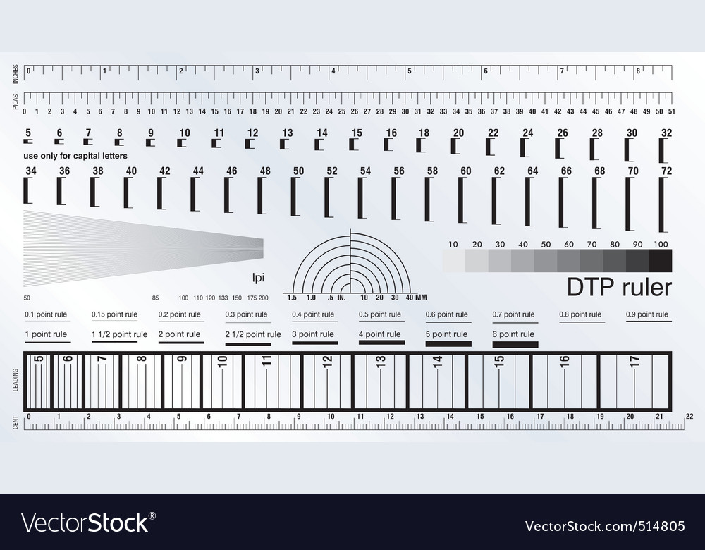 Dtp ruler vector