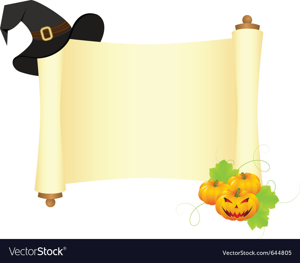 Halloween scroll vector | Price: 1 Credit (USD $1)