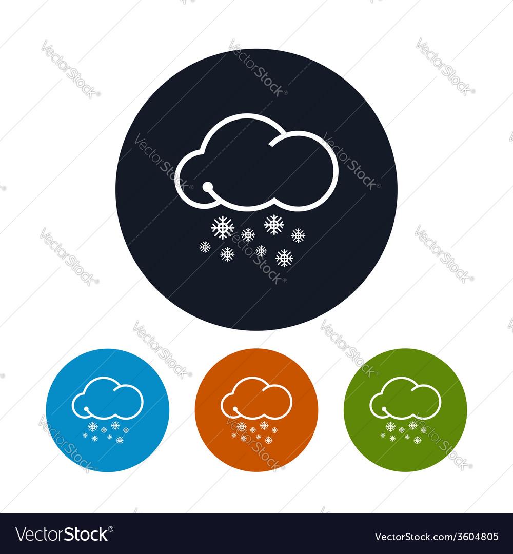 Icon snowfall vector | Price: 1 Credit (USD $1)