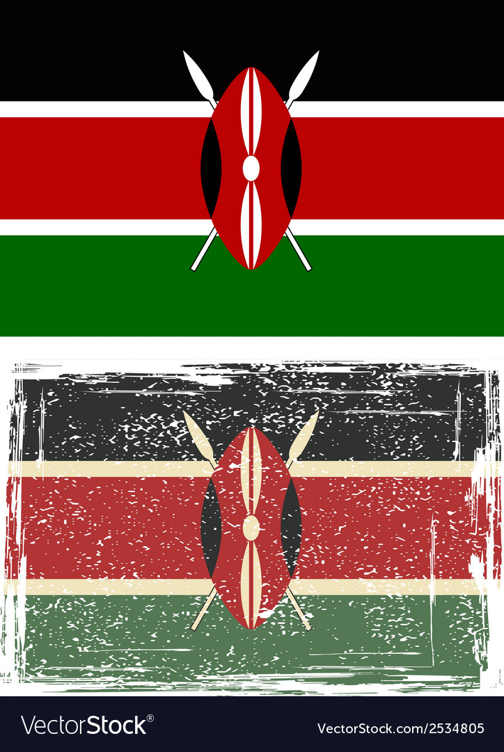 Kenyan grunge flag vector | Price: 1 Credit (USD $1)