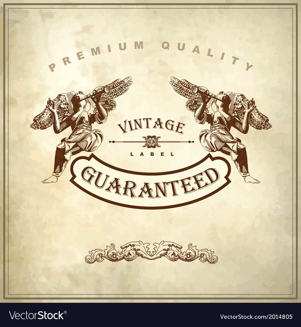 Luxury premium quality and guarantee label design vector | Price: 1 Credit (USD $1)