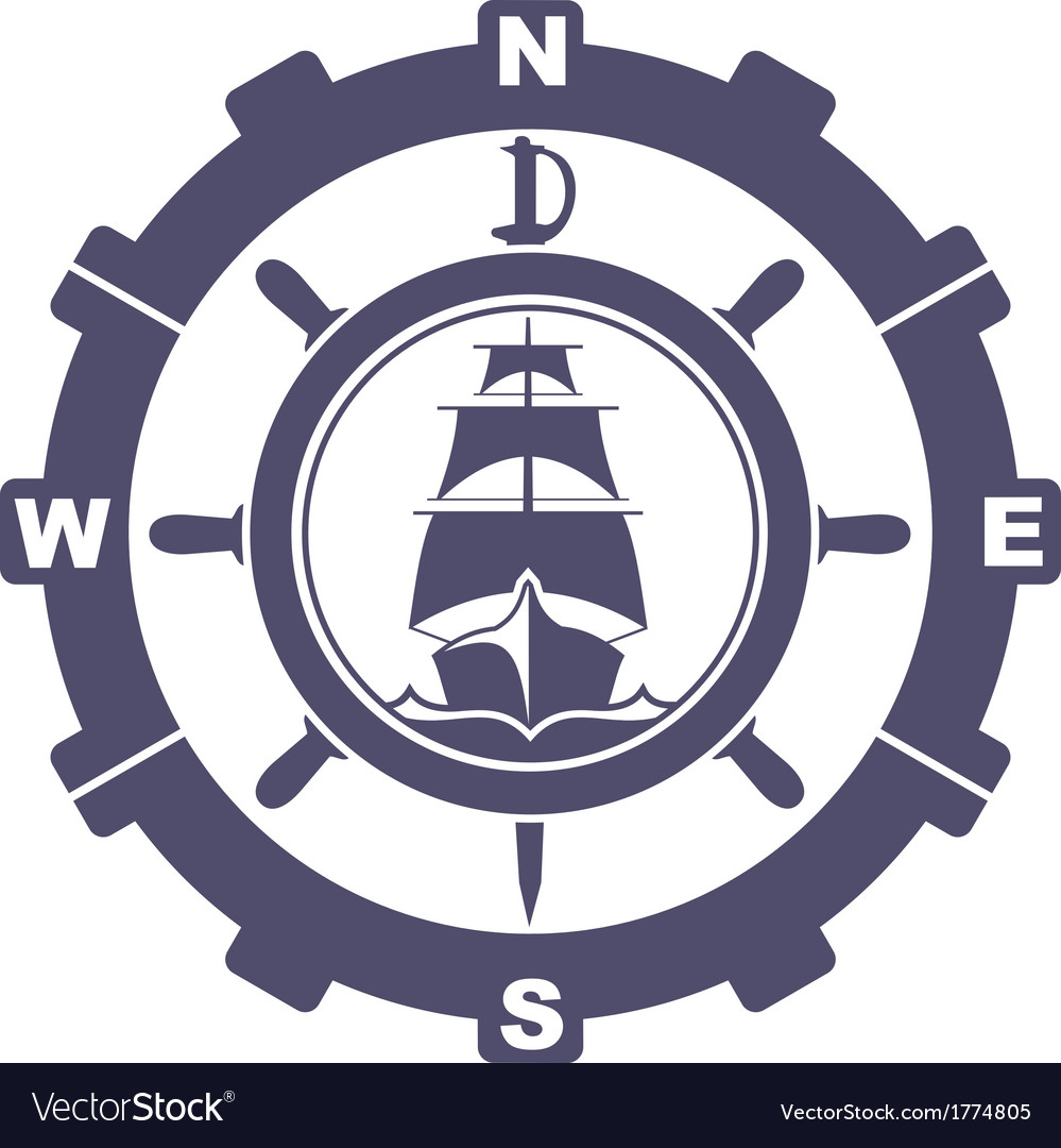 Nautical vintage icon vector | Price: 1 Credit (USD $1)