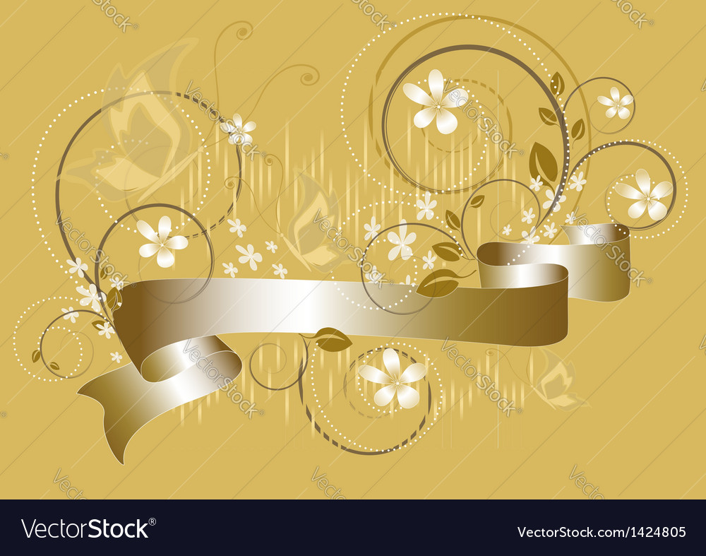 White flowers on yellow flickering background vector | Price: 1 Credit (USD $1)