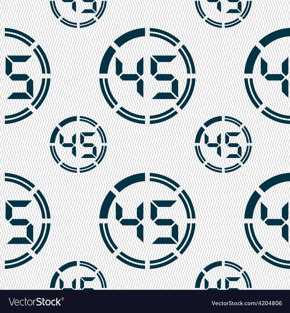 45 second stopwatch icon sign seamless pattern vector | Price: 1 Credit (USD $1)