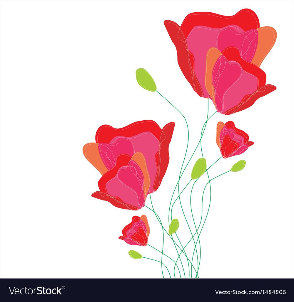 Beautiful flowers vector | Price: 1 Credit (USD $1)