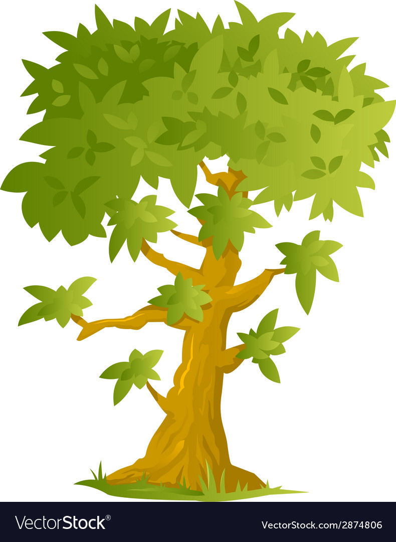 Big cartoon tree vector | Price: 1 Credit (USD $1)