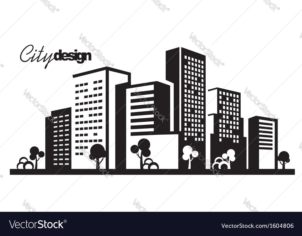Black city vector | Price: 1 Credit (USD $1)