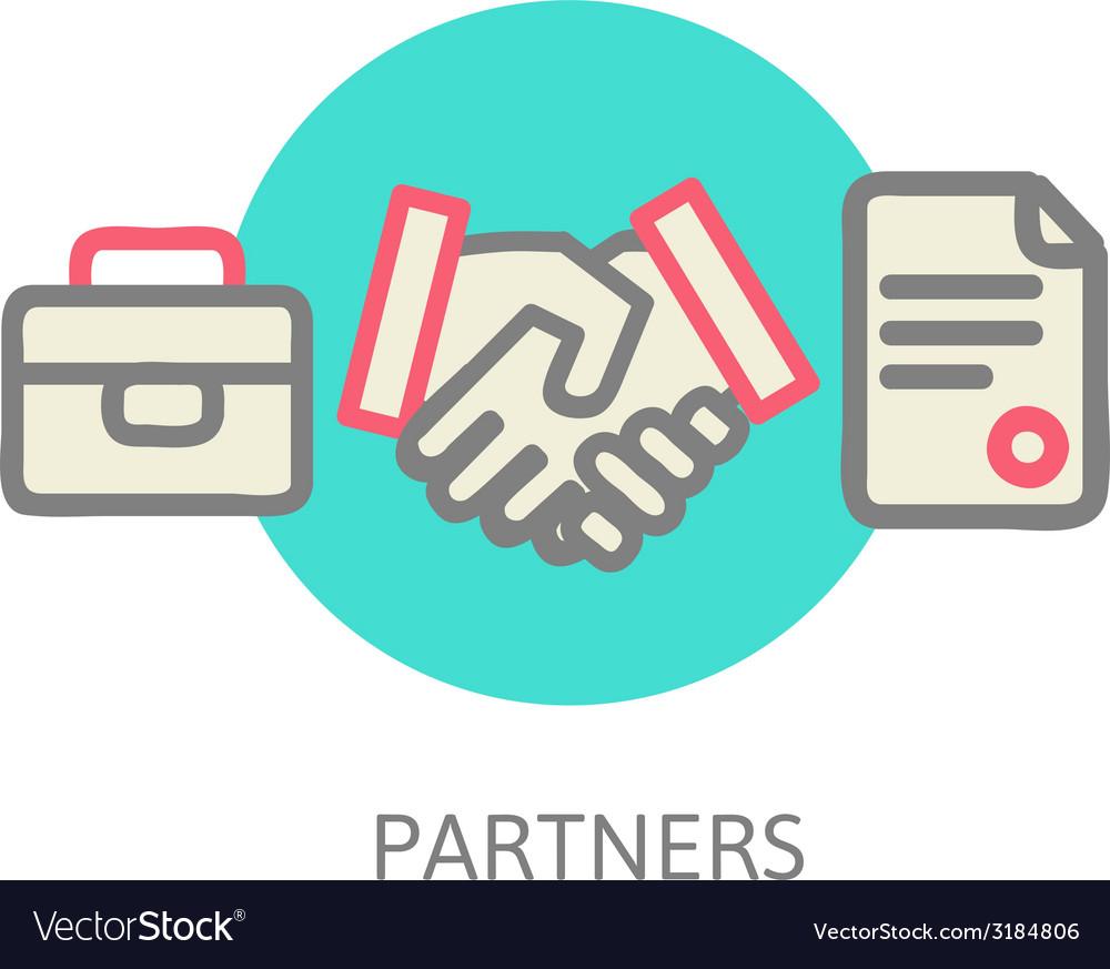 Business handshake vector | Price: 1 Credit (USD $1)