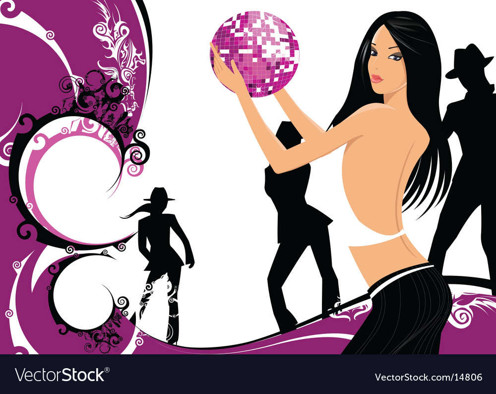 Dancing woman vector | Price: 3 Credit (USD $3)