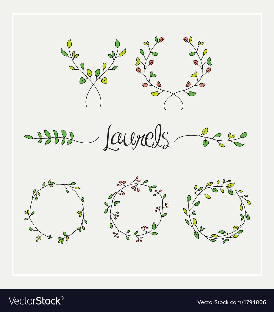 Laurels graphic set vector | Price: 1 Credit (USD $1)