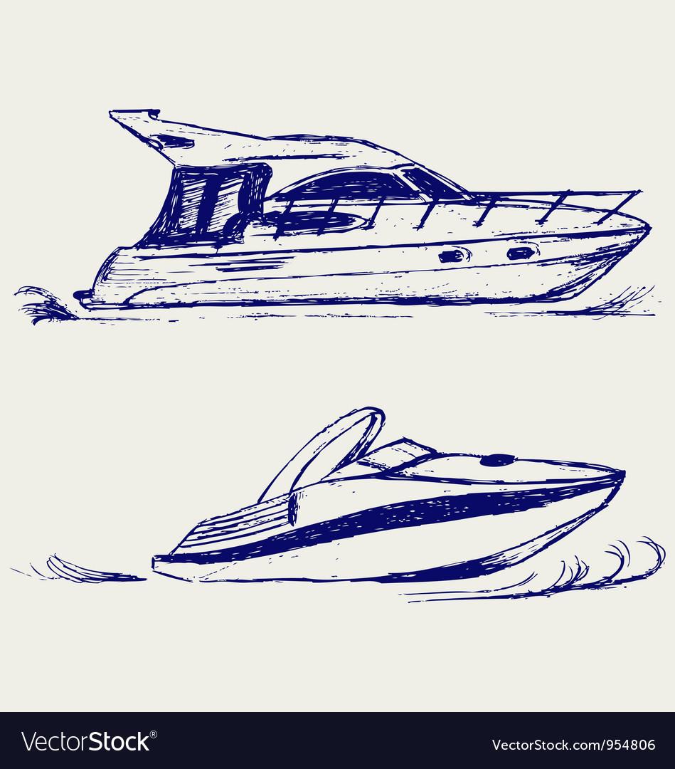 Luxury yacht vector | Price: 1 Credit (USD $1)