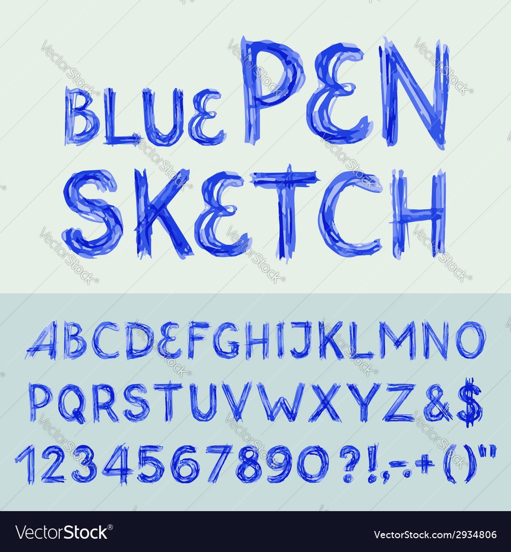 Pen sketch alphabet vector | Price: 1 Credit (USD $1)