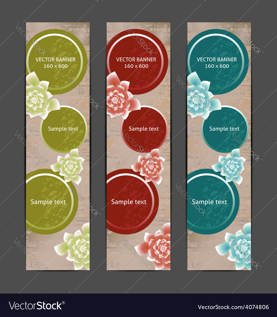 Vertical floral banner bookmark background vector | Price: 1 Credit (USD $1)