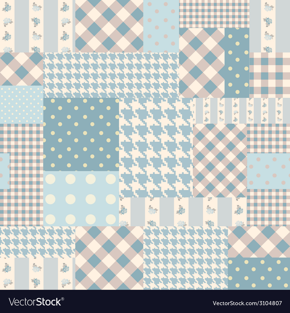 Blue patchwork of rectangles vector | Price: 1 Credit (USD $1)