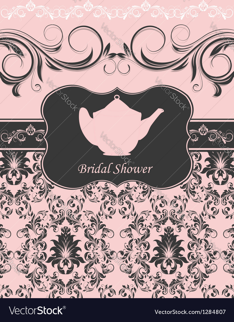 Bridal shower invitation vector | Price: 1 Credit (USD $1)