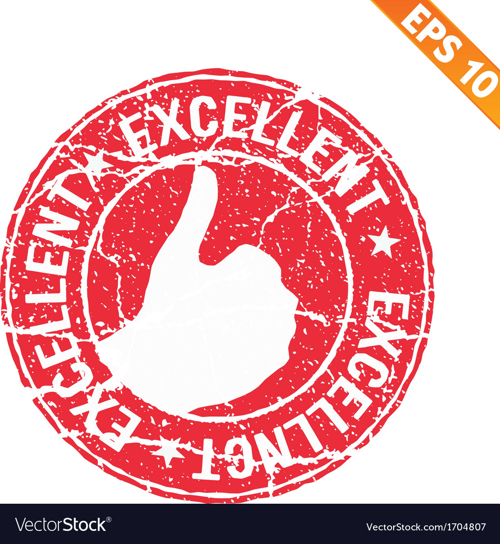 Excellent rubber stamp - - eps10 vector | Price: 1 Credit (USD $1)