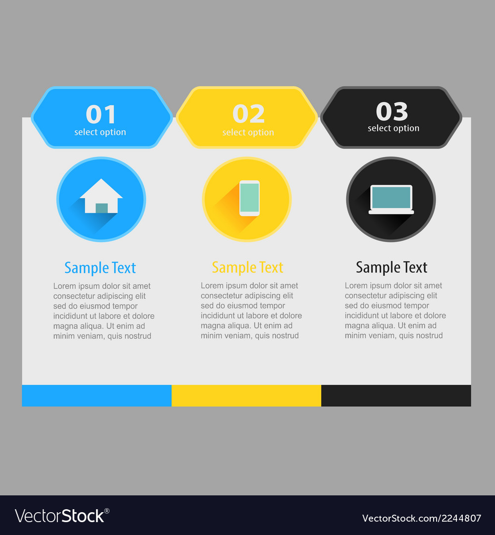 Flat info banner vector | Price: 1 Credit (USD $1)
