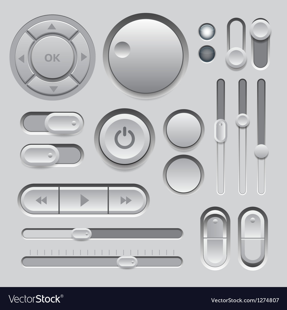 Gray web ui elements design vector | Price: 1 Credit (USD $1)