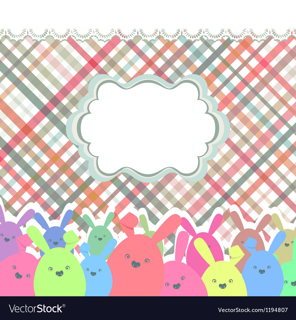Happy easter eggs eps 8 vector | Price: 1 Credit (USD $1)