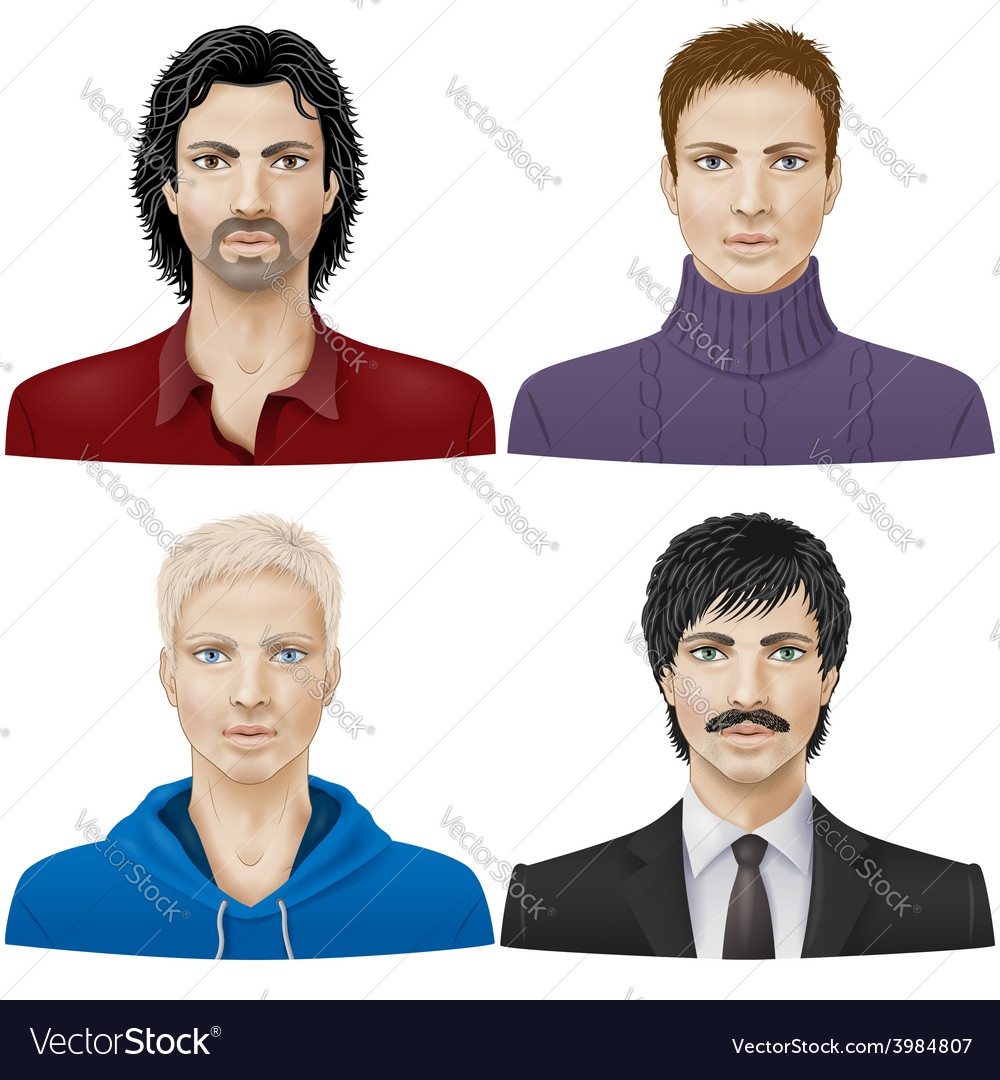 Men face vector | Price: 3 Credit (USD $3)