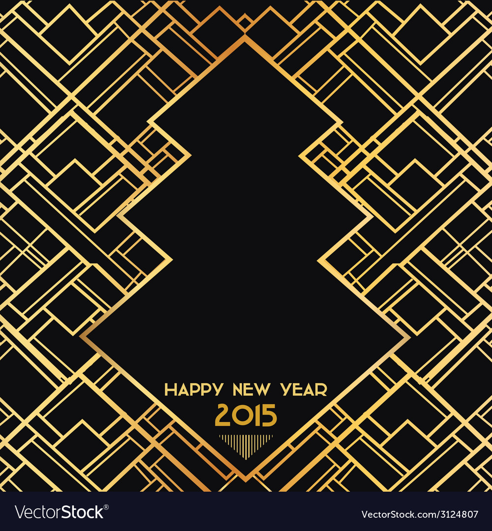 New year 2015 art deco card vector | Price: 1 Credit (USD $1)