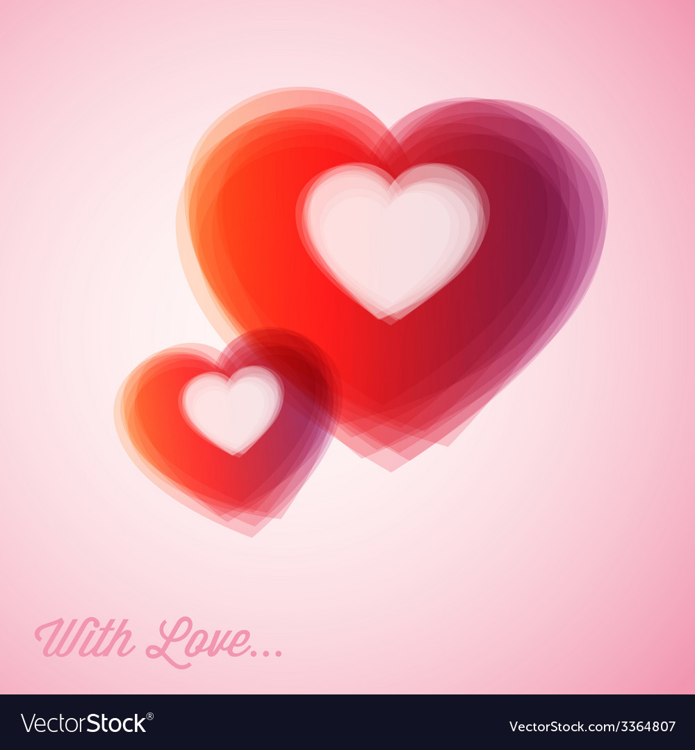 Red hearts - valentines card vector | Price: 1 Credit (USD $1)