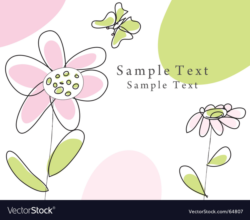 Sketch greeting card vector | Price: 1 Credit (USD $1)
