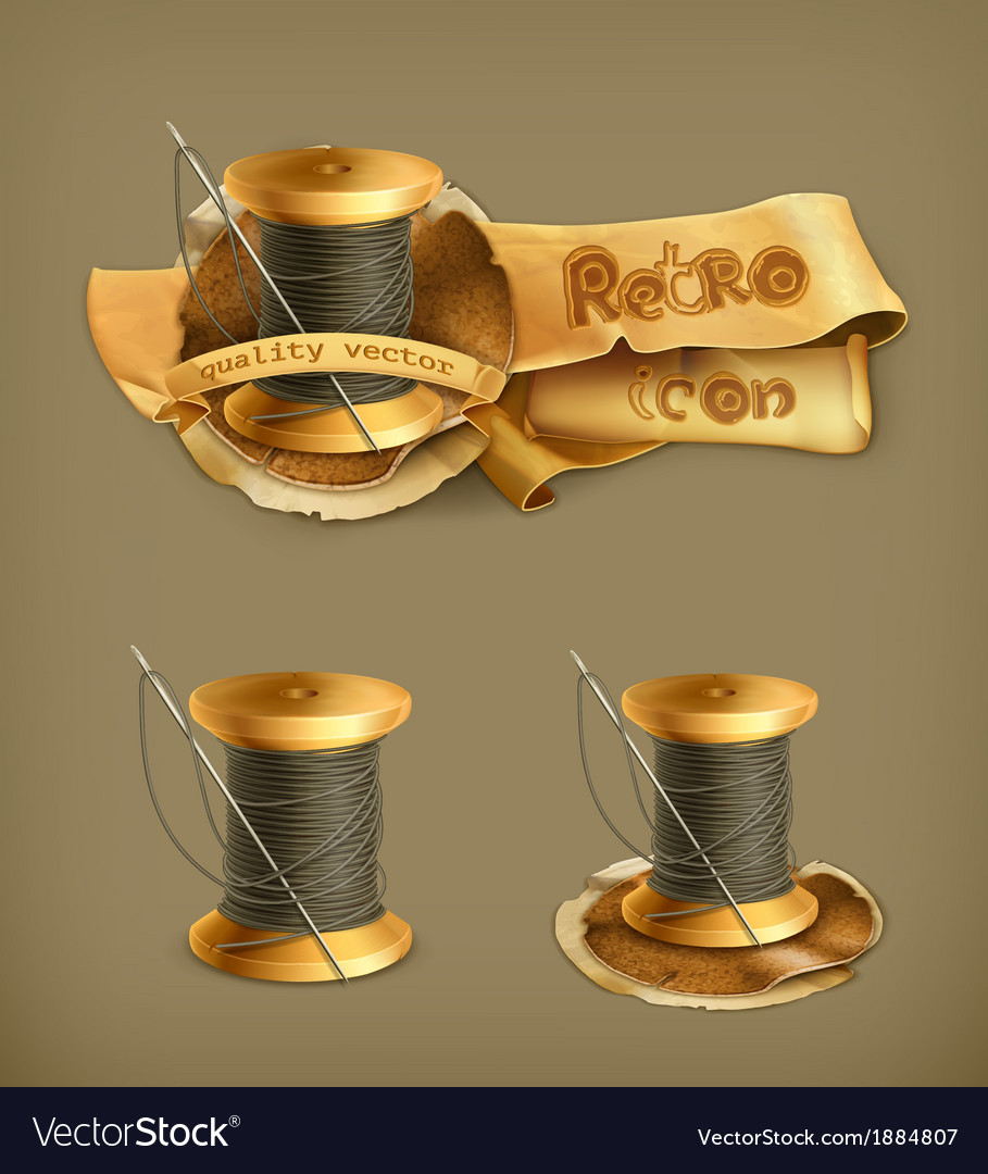 Spool of thread icon vector | Price: 1 Credit (USD $1)