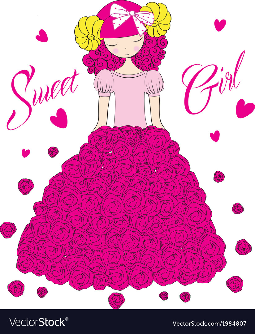 Sweet girl vector | Price: 1 Credit (USD $1)
