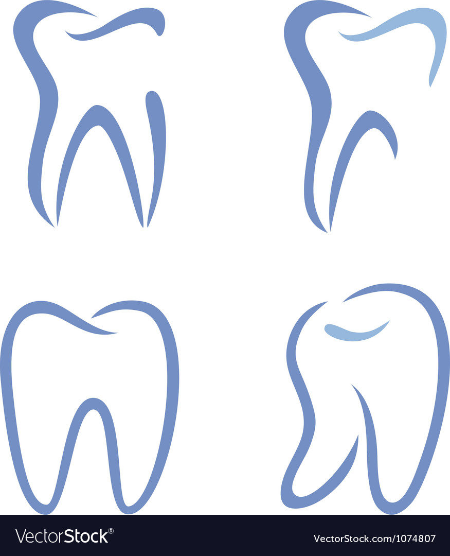 Teeth drawing vector