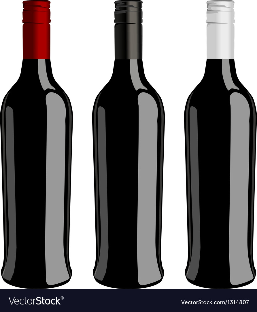 Three bottles of wine vector | Price: 1 Credit (USD $1)