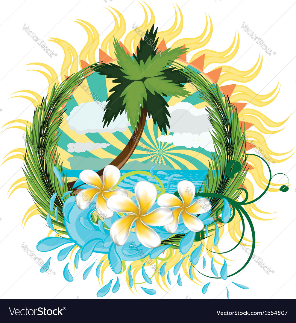 Tropic island2 vector | Price: 3 Credit (USD $3)
