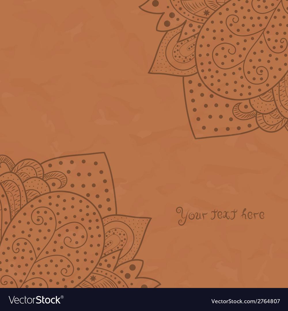 Vintage invitation corners on grunge background vector   Price: 1 Credit (USD $1)