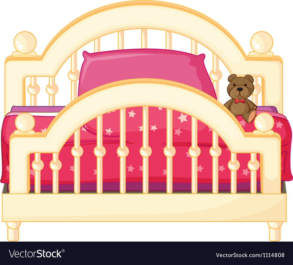 A bed of a child vector | Price: 1 Credit (USD $1)