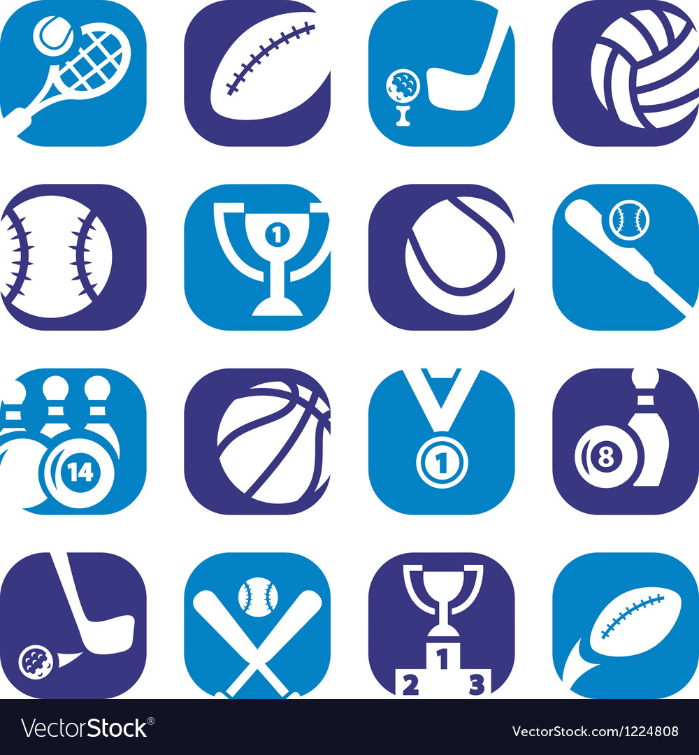 Color sports icons vector | Price: 1 Credit (USD $1)