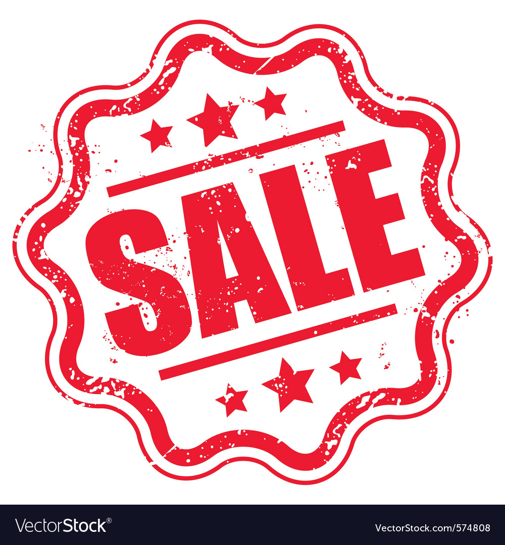Grunge sale stamp vector   Price: 1 Credit (USD $1)
