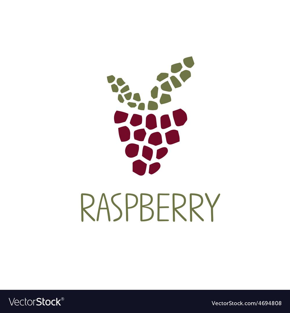Mosaic raspberry design template vector | Price: 1 Credit (USD $1)